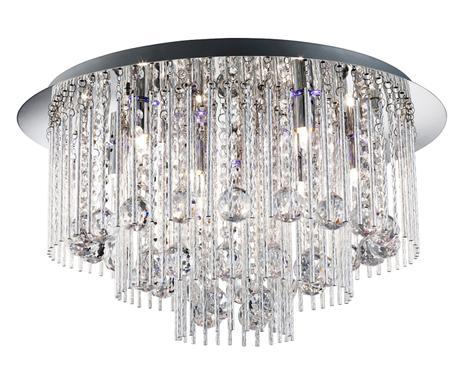 Plafoniere Acciaio E Cristallo : Cristalli di luce lampade glamour westwing