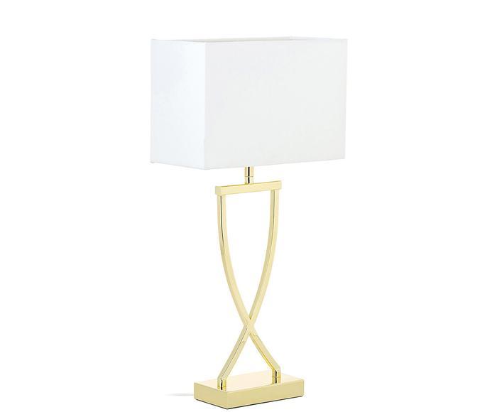 Lampada da tavolo Vanessa bianco/oro