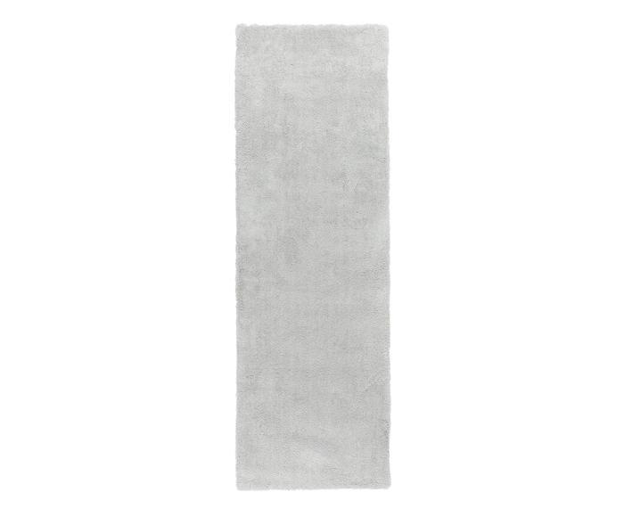 Passatoia Leighton grigio chiaro, 80x250 cm