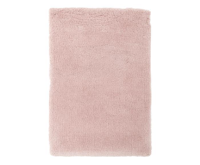 Tappeto peloso morbido Leighton rosa, 160x230 cm