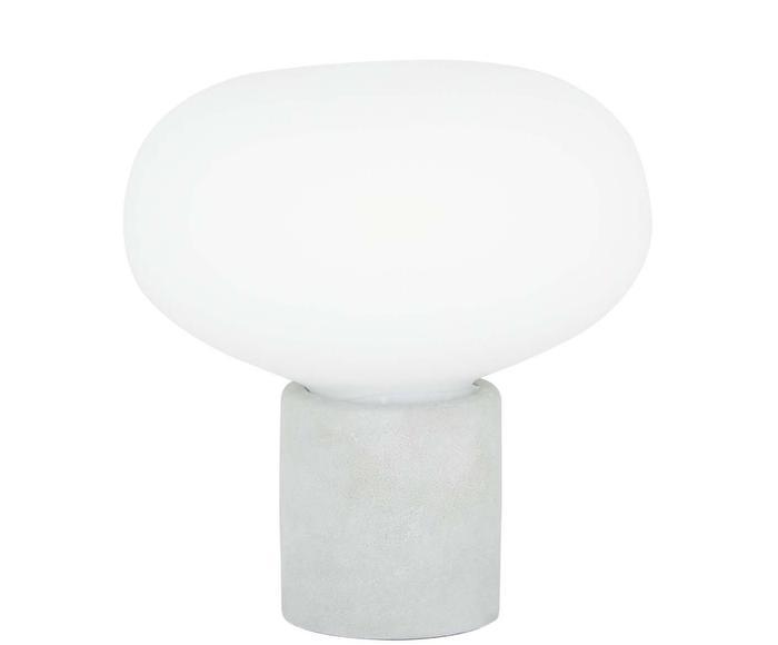 Lampada da tavolo Alma grigio, 23x24 cm