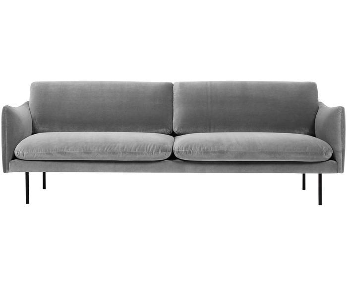Sofá de terciopelo Moby (3 plazas)