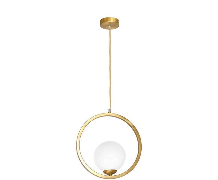 "Závesné svietidlo ""Vienna Gold & White I"", 14 x 30 x 100 cm"