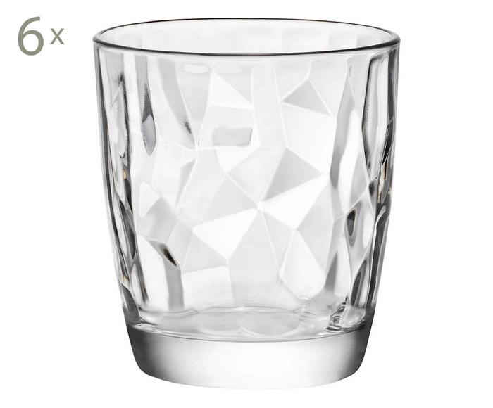 Set de 6 vasos Diamond Acqua