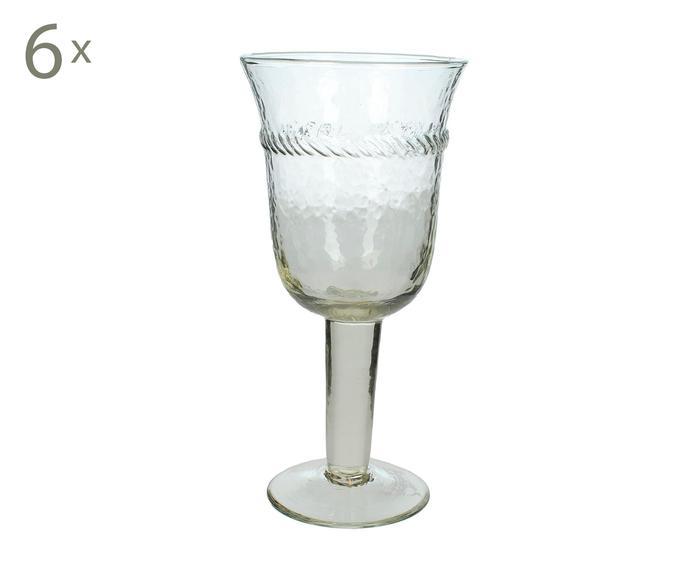 Set de 6 copas de vino Serge