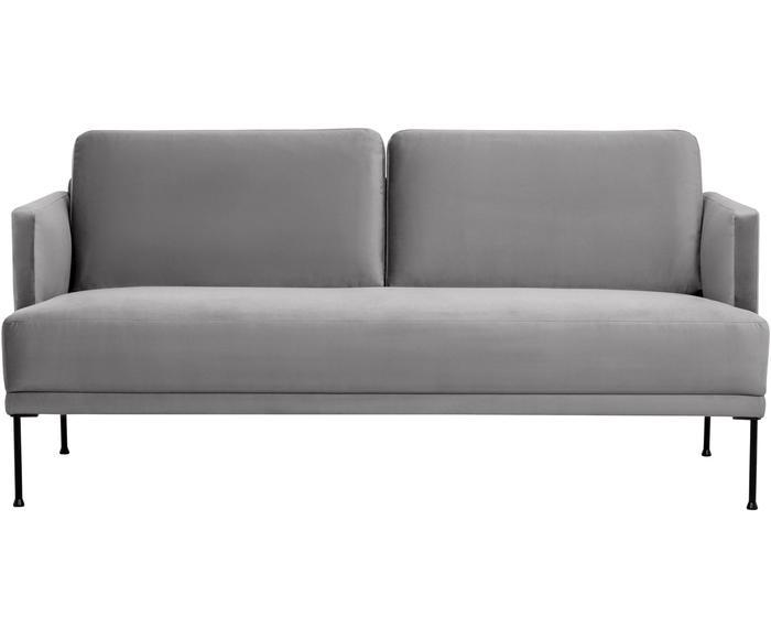 Sofá de 2 plazas en terciopelo Fluente