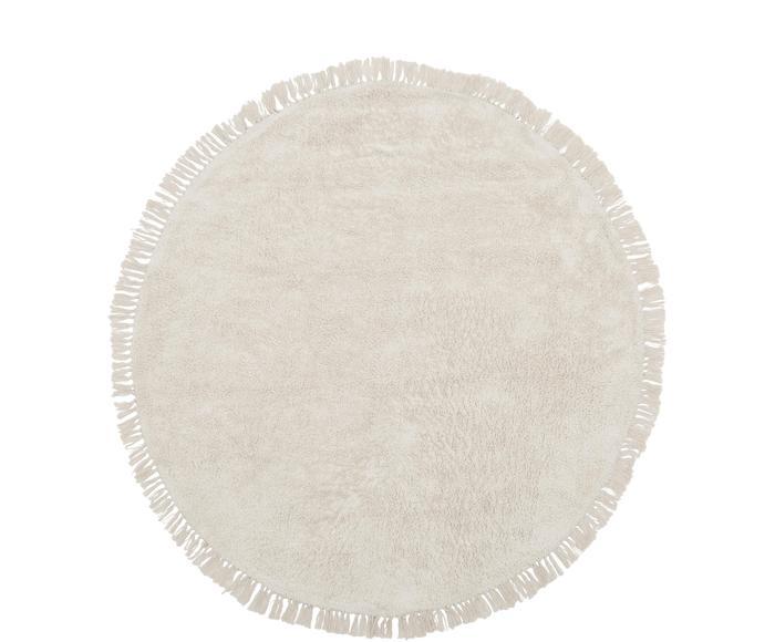 Tappeto rotondo in cotone taftato a mano Daya, d 150 cm