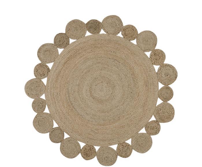 Handgefertigter Jute-Teppich Niago