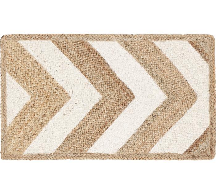 Handgefertigter Jute-Teppich Eckes