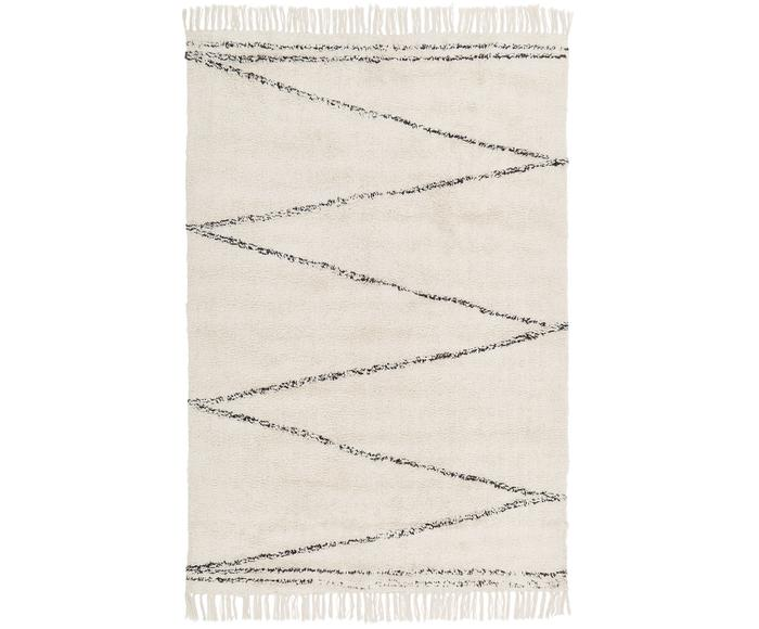 Tappeto in cotone taftato a mano con motivo a zigzag Asisa, 120x180 cm