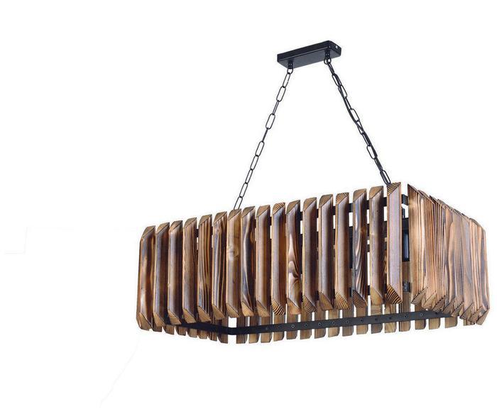 """Lampa wisząca """"Siesta ll Walnut & Black"""", 36 x 78 x 78 cm"""