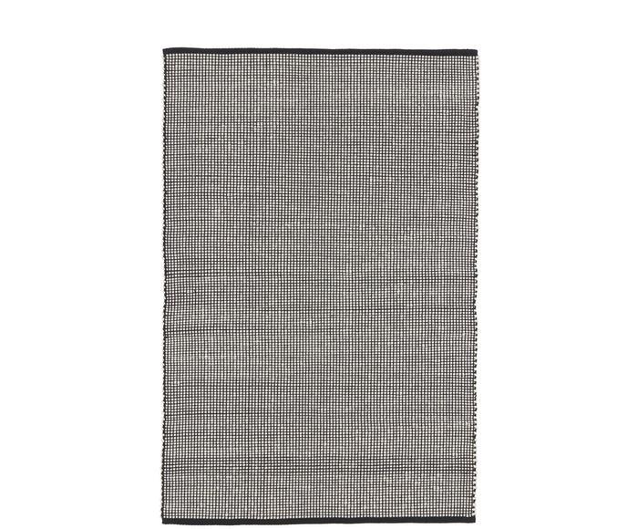 Tappeto in lana color nero/crema tessuto a mano Amaro, 200x300 cm