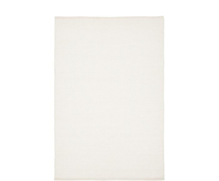 Tappeto in lana color crema tessuto a mano Amaro, 200x300 cm