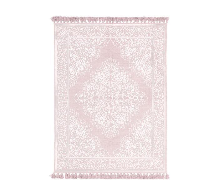 """Ručně tkaný bavlněný koberec se střapci """"SaLimetka"""", 160 x 230 cm"""