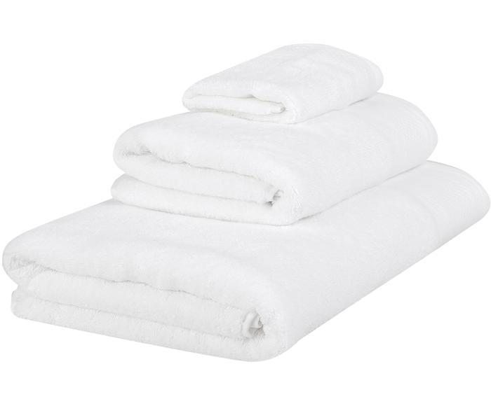 Set de 3 toallas con cenefa clásica Premium