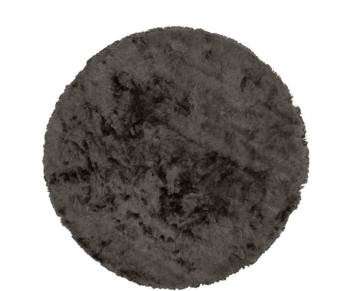 Glänzender Hochflor-Teppich Jimmy, Ø 120 cm