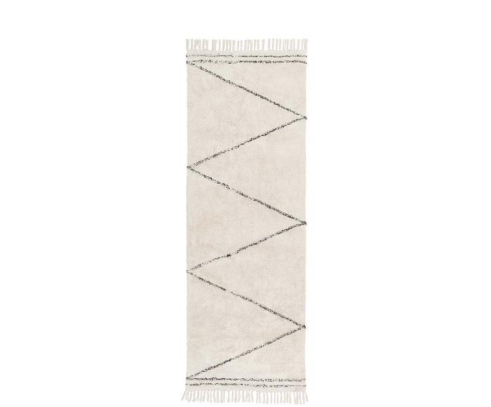 Handgetufteter Baumwollläufer Asisa, 80 x 250 cm