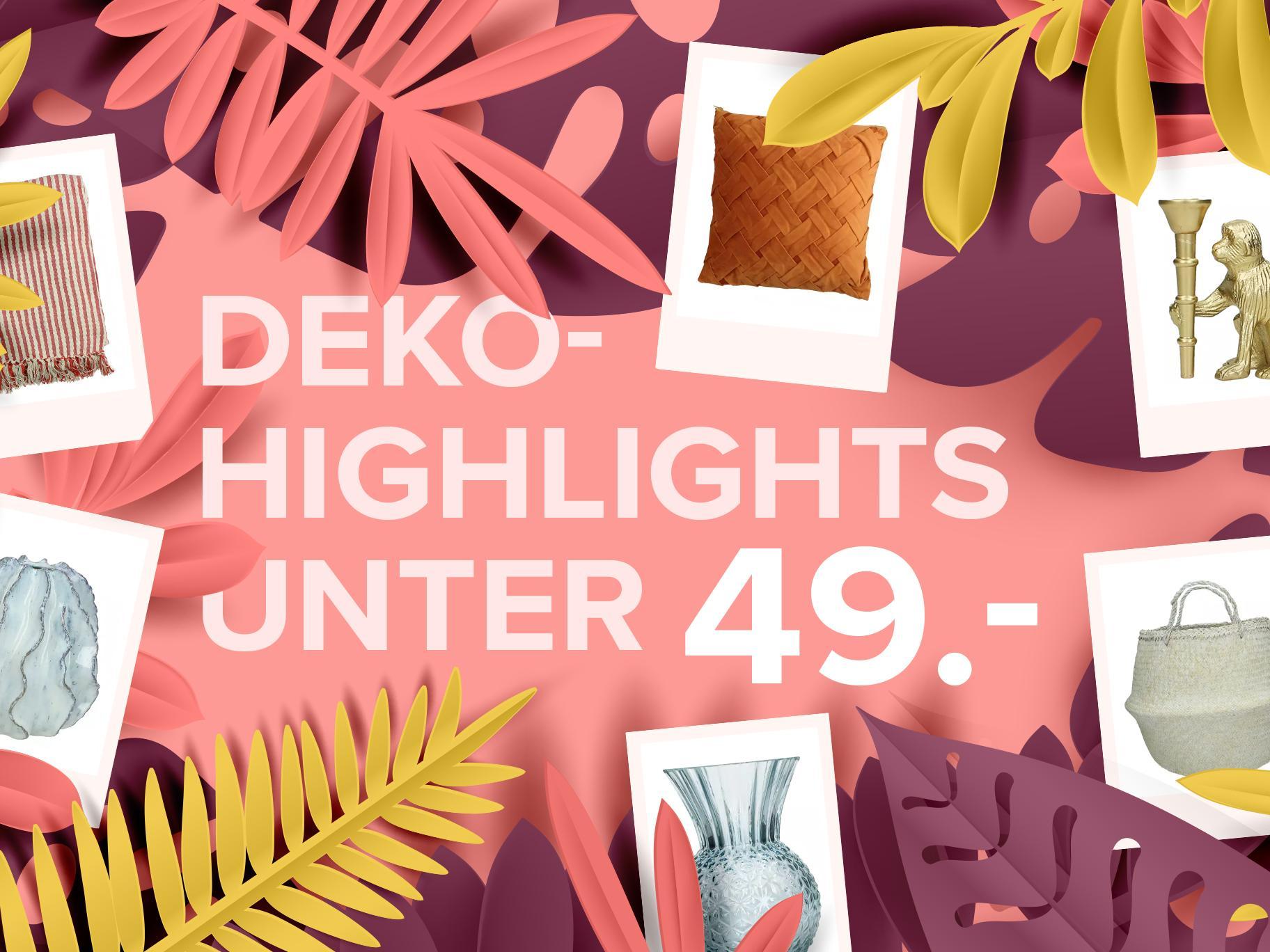 Deko-Highlights unter CHF 49