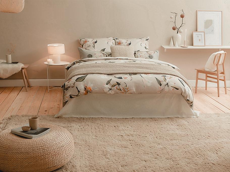 Bettwäsche im Floral-Design
