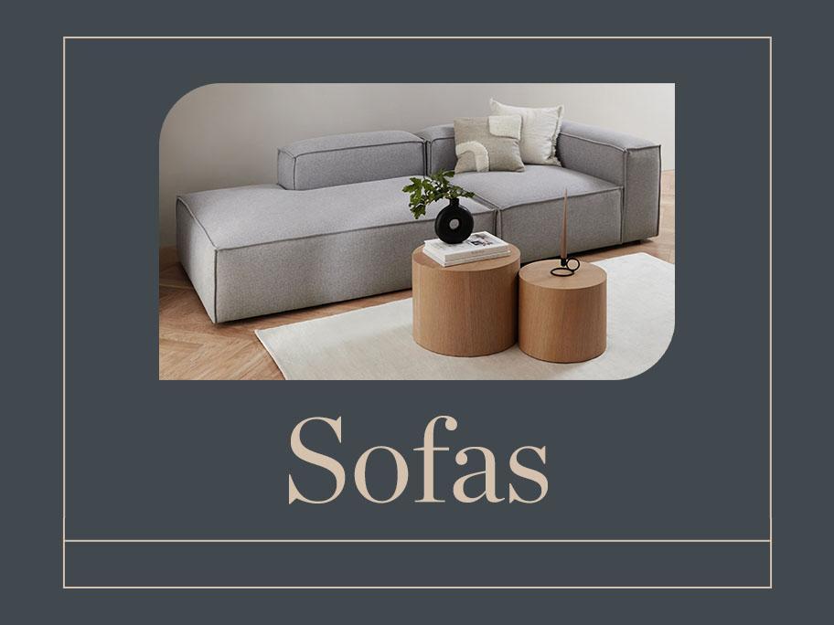 Sofas, Ecksofas, XL-Lounger