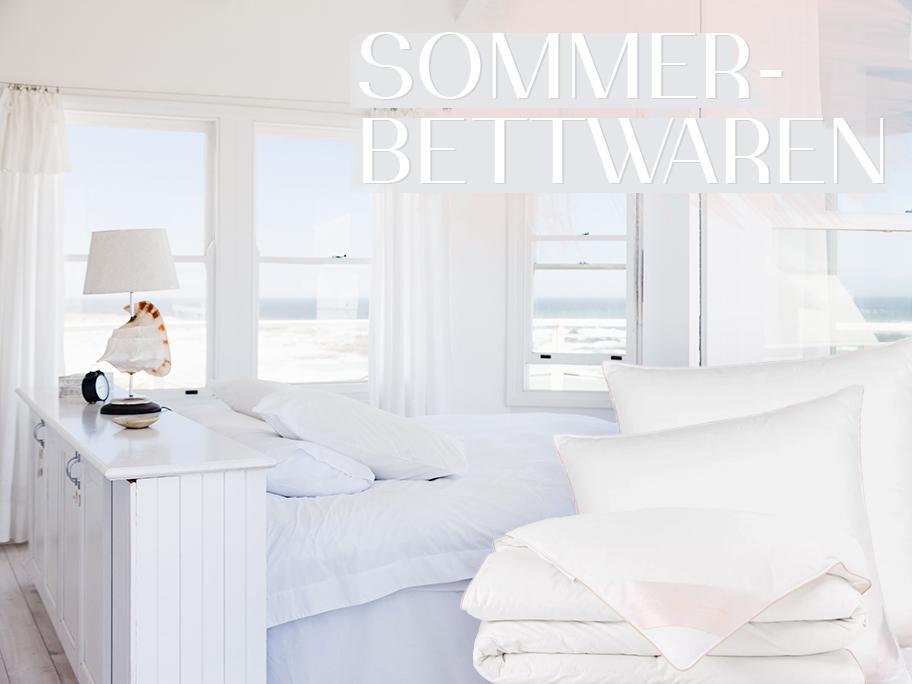 Zeit für Sommer-Bettwaren!