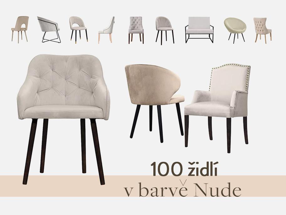 100 židlí v odstínu NUDE