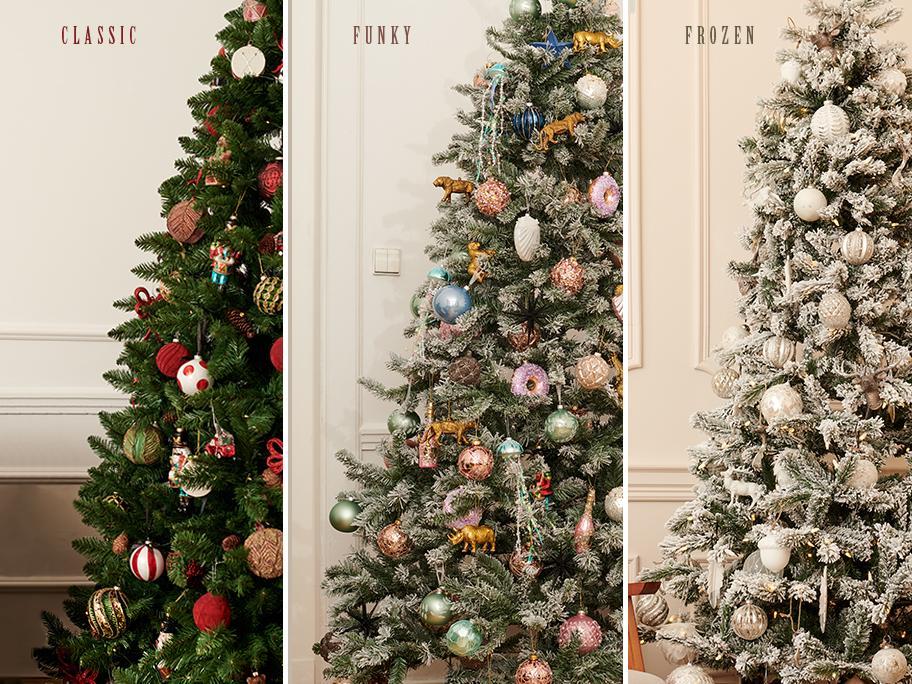 Aranžmá stromečku ve 3 stylech