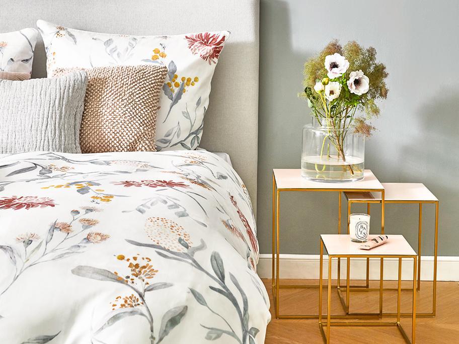 Bettwäsche mit Floral-Print