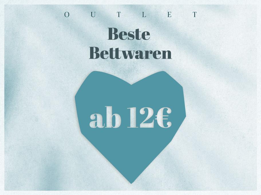 Bettwaren-Outlet ab 12 €