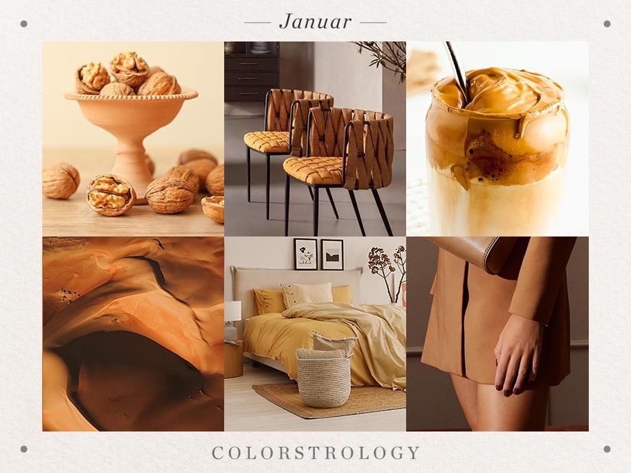 Januar: Geburtsfarbe Karamell