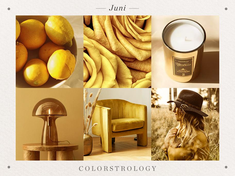 Juni: Geburtsfarbe Gold