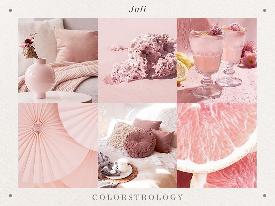 Juli: Geburtsfarbe Rosé