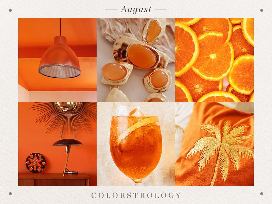 August: Geburtsfarbe Orange