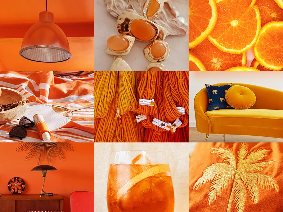 Leuchtendes Orange