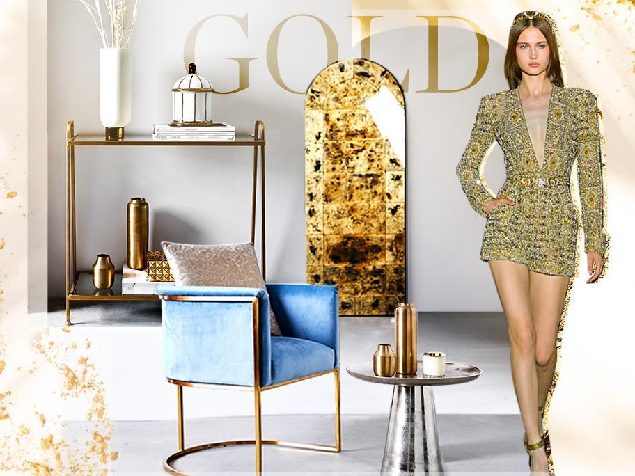 Gold als Deko-Highlight