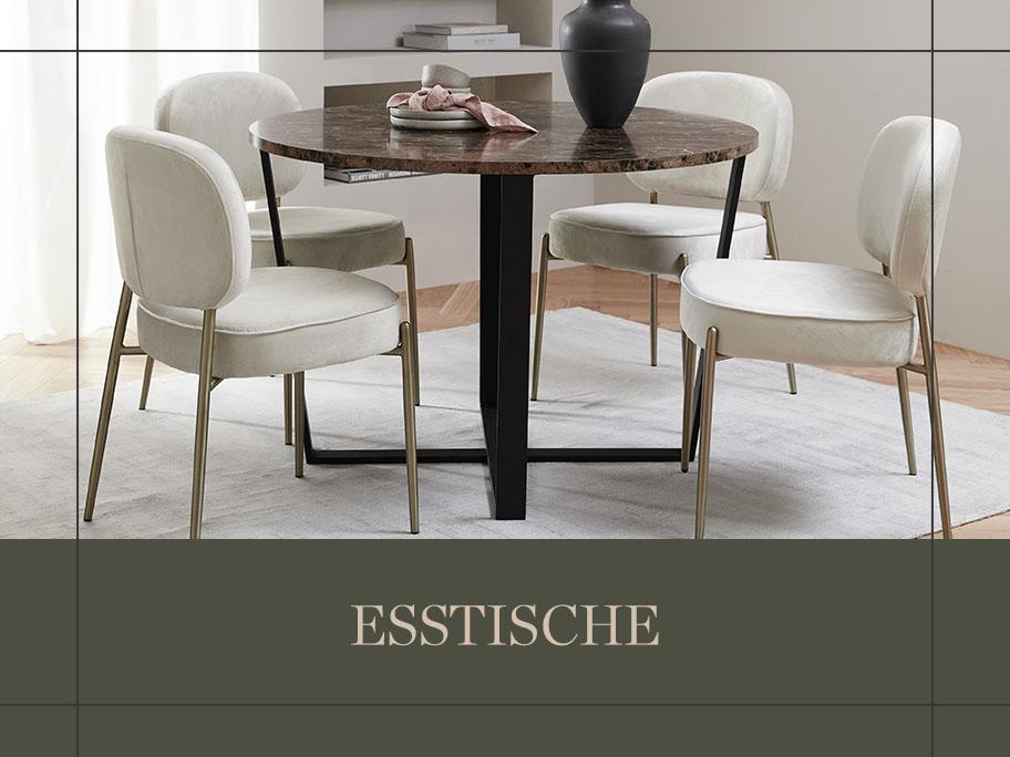 Tische: Rund, eckig & oval