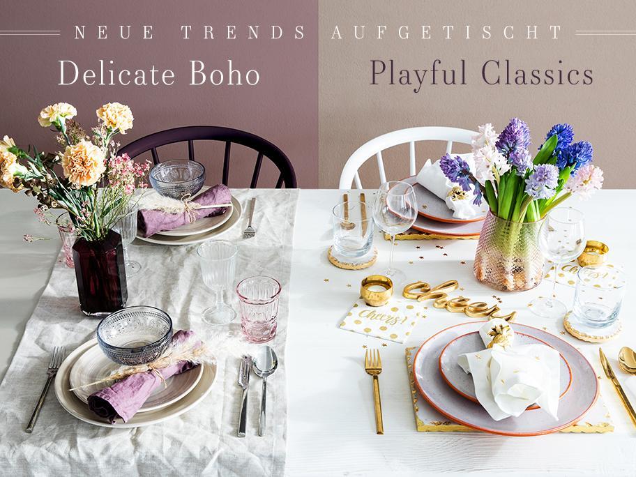 2 Tisch-Trends serviert
