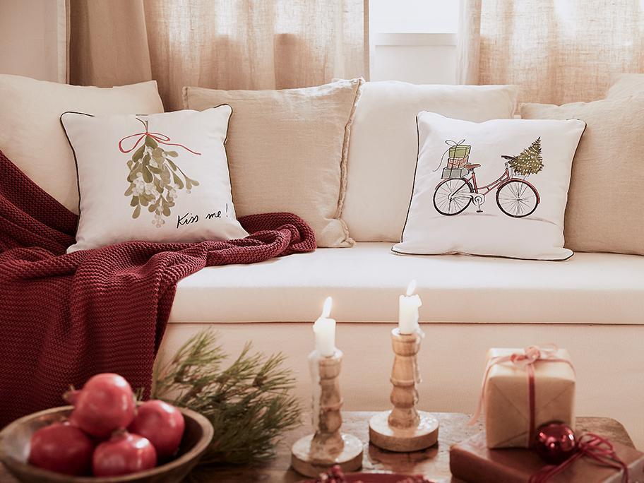 Textilien im Weihnachts-Look
