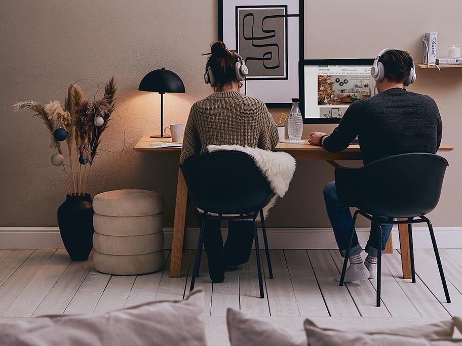 Zu zweit im Home-Office