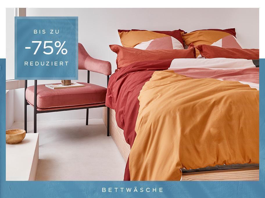 Bettwäsche mit bis zu -75%