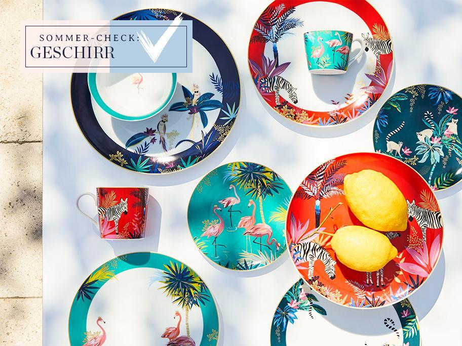 Tableware in Power-Farben