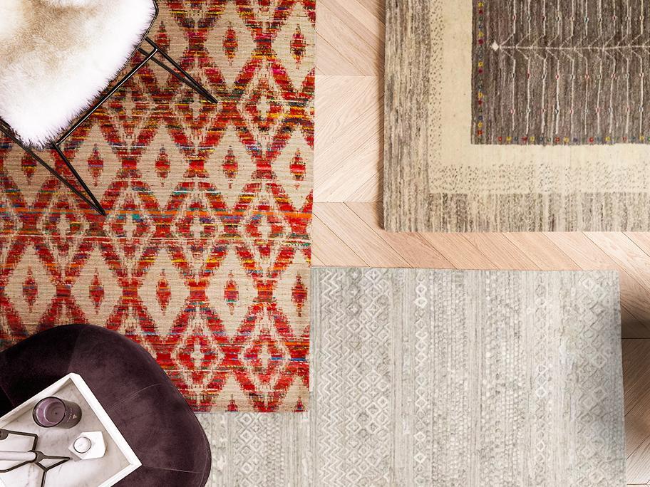 Teppiche aus Wolle & Viskose