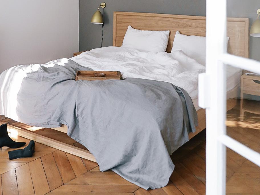 Bettwäsche in Weiß & Grau