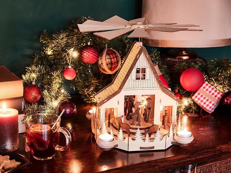 Casitas artesanales de Navidad