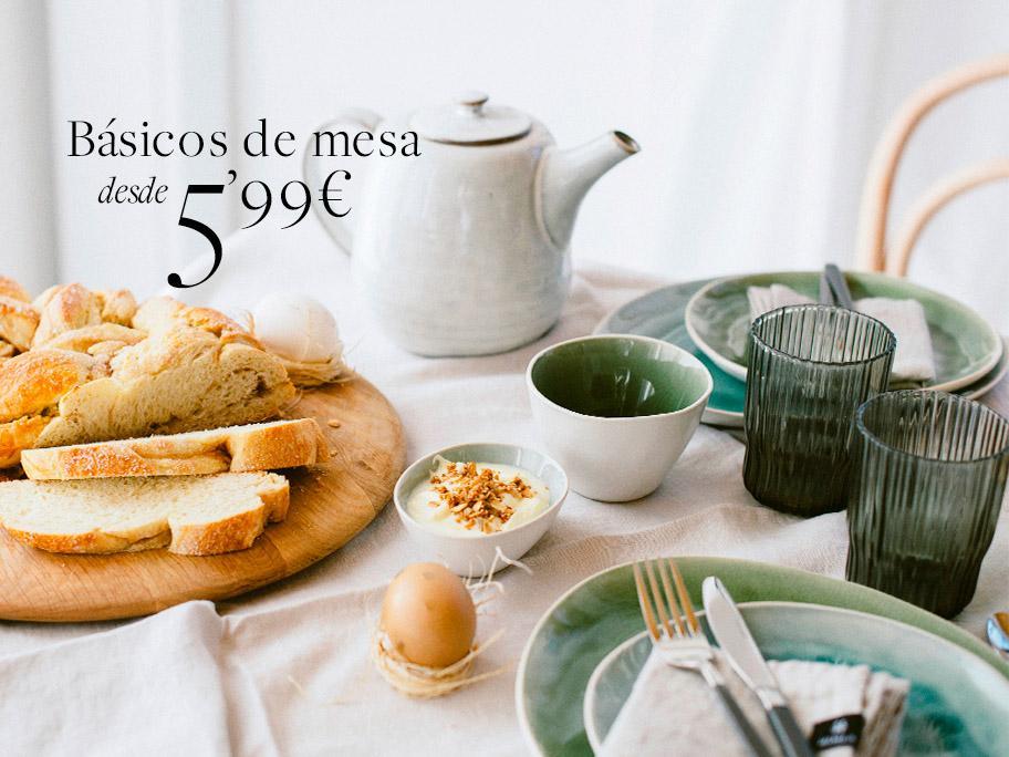 Básicos de mesa desde 5,99€