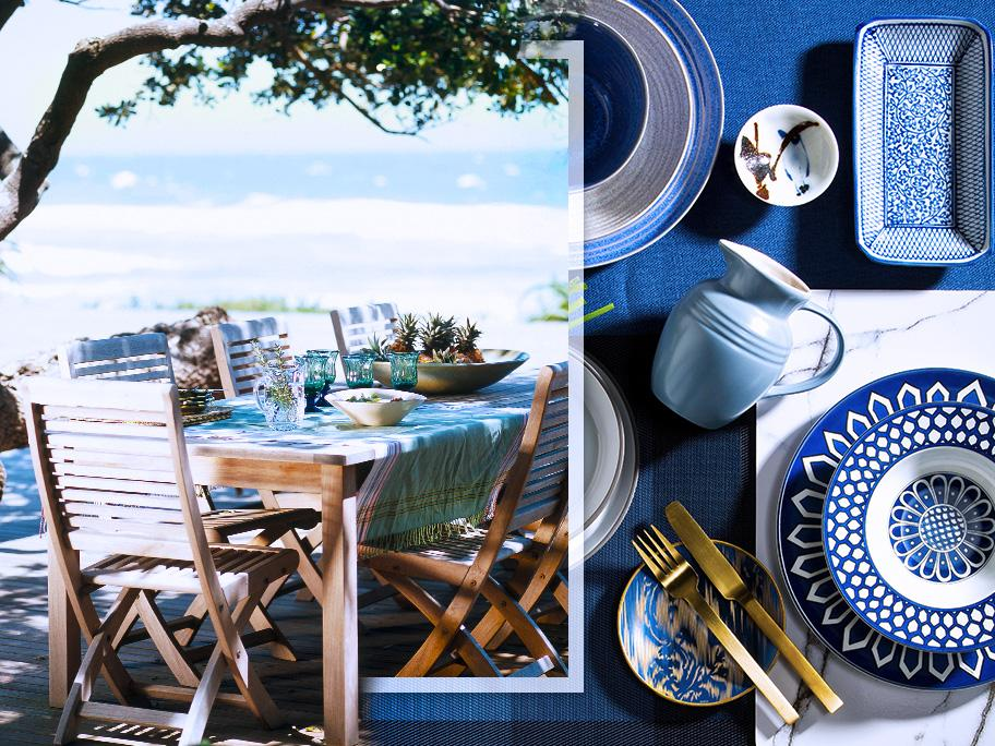 Cena frente al mar