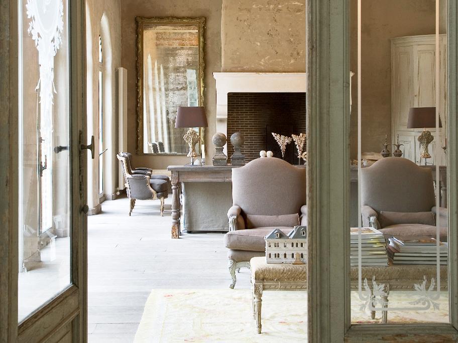 Un salón elegante