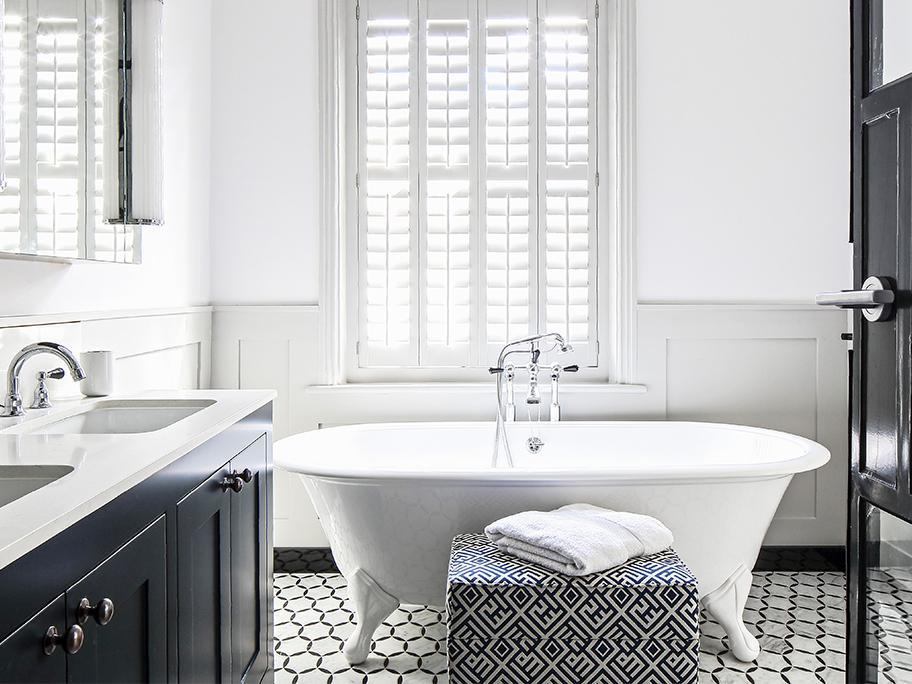 Un baño elegante