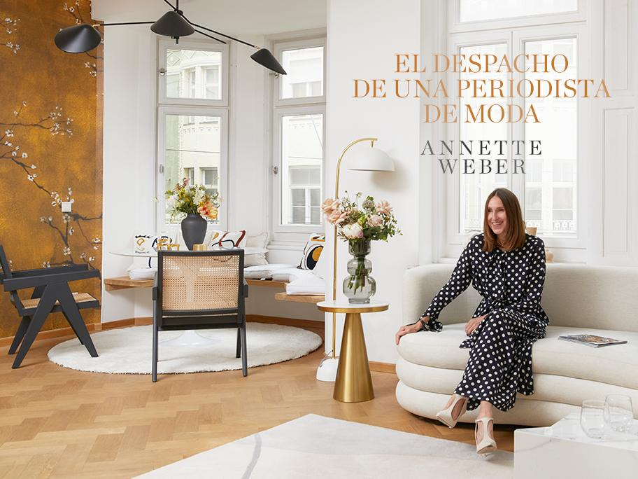 Annette Weber y su oficina