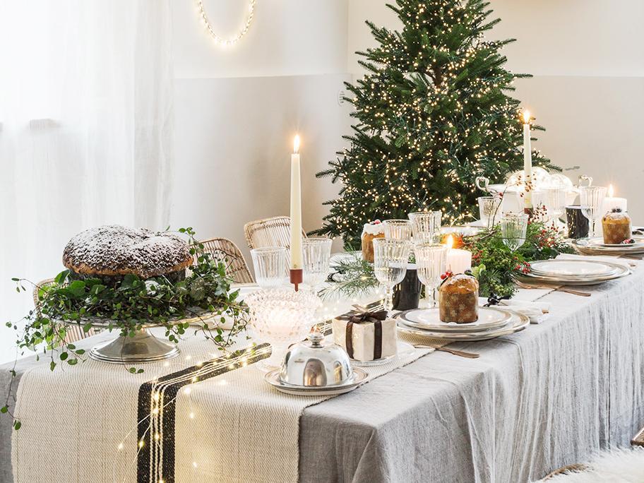 Una mesa navideña diferente